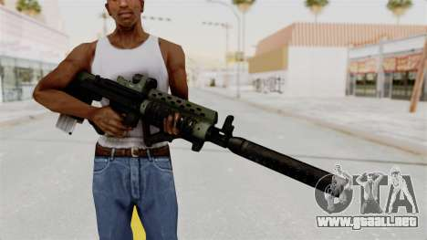Killzone - M82 Assault Rifle Supressed para GTA San Andreas tercera pantalla