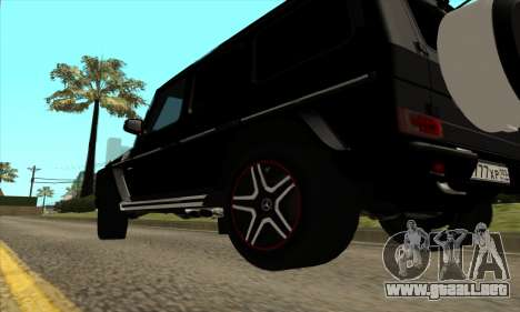 Mercedes G63 Biturbo para visión interna GTA San Andreas
