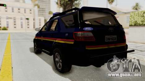 Toyota Fortuner JPJ Dark Blue para GTA San Andreas left