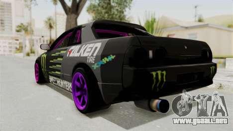Nissan Skyline R32 Drift Monster Energy Falken para GTA San Andreas left