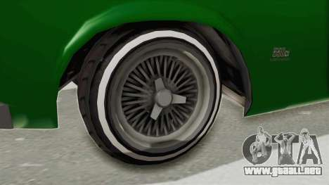 GTA 5 Declasse Sabre GT2 para GTA San Andreas vista hacia atrás