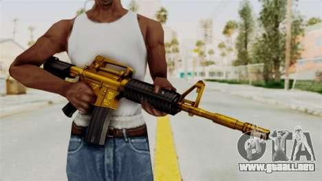 M4A1 Gold para GTA San Andreas tercera pantalla