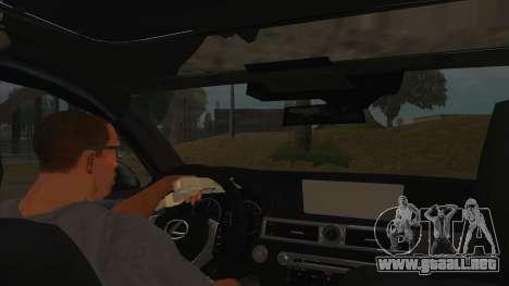 Lexus LS600HL 2008 para visión interna GTA San Andreas