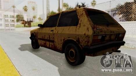 Zastava Yugo Koral 55 Rusty para GTA San Andreas left