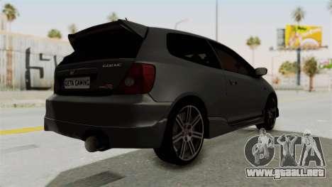 Honda Civic Type R EP3 para la visión correcta GTA San Andreas