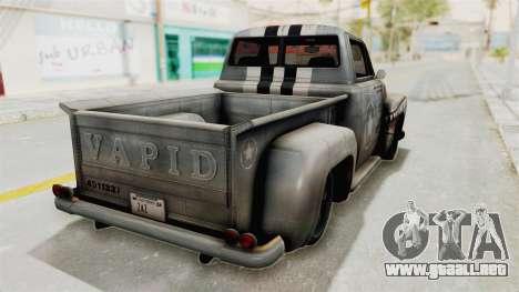 GTA 5 Slamvan Stock PJ2 para GTA San Andreas left