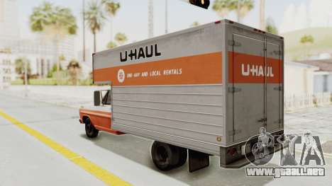 Ford F-350 U-Haul 1971 para GTA San Andreas left