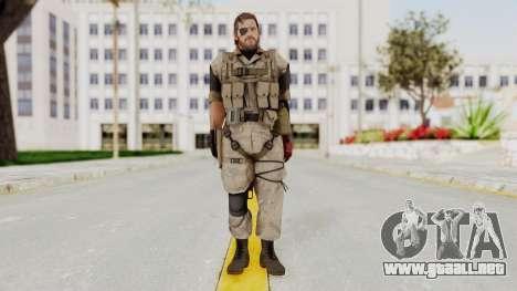 MGSV The Phantom Pain Venom Snake Desert para GTA San Andreas segunda pantalla