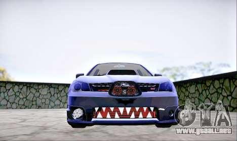 Subaru Impreza WRX STI Dark Knight para la visión correcta GTA San Andreas