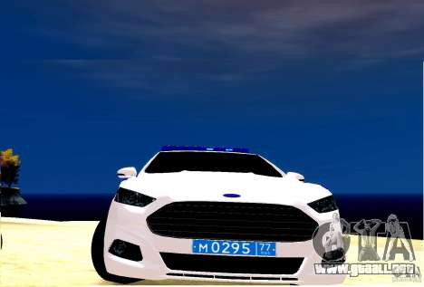 Ford Mondeo Russian Police para GTA 4 left