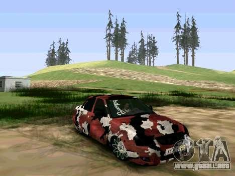 Lada Priora Camouflage para GTA San Andreas vista posterior izquierda