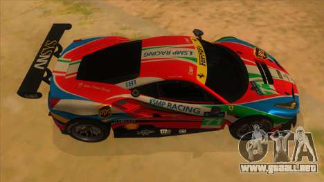 2016 Ferrari 488 GTE para visión interna GTA San Andreas