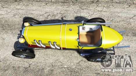 GTA 5 Fiat Mefistofele v1.2 [black tires] vista trasera