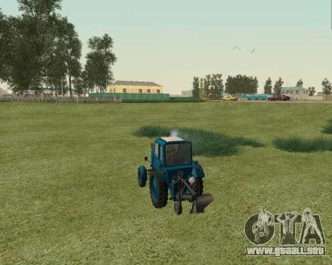 MTZ 80 Bielorrusia para GTA San Andreas vista posterior izquierda