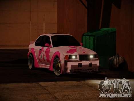 BMW M3 E36 Pinkie Pie para la visión correcta GTA San Andreas
