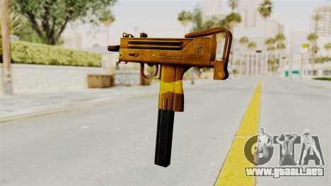 MAC-10 Gold para GTA San Andreas segunda pantalla