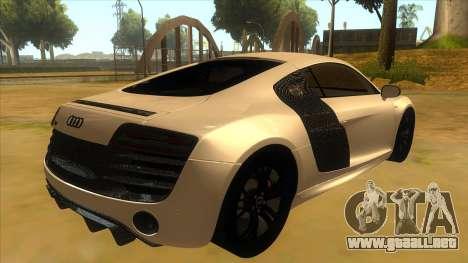 Audi R8 5.2 V10 Plus para la visión correcta GTA San Andreas