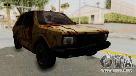 Zastava Yugo Koral 55 Rusty para la visión correcta GTA San Andreas