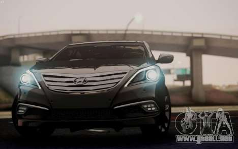 Hyundai Grandeur 2015 STOCK para visión interna GTA San Andreas