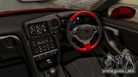Nissan GT-R R35 Liberty Walk LB Performance v2 para visión interna GTA San Andreas