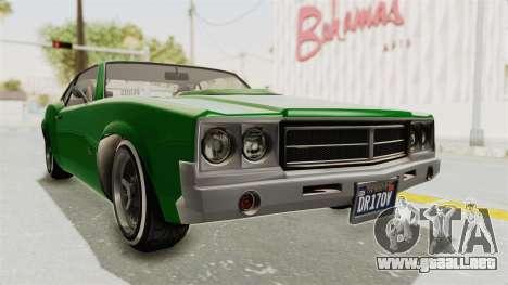 GTA 5 Declasse Sabre GT2 para la visión correcta GTA San Andreas