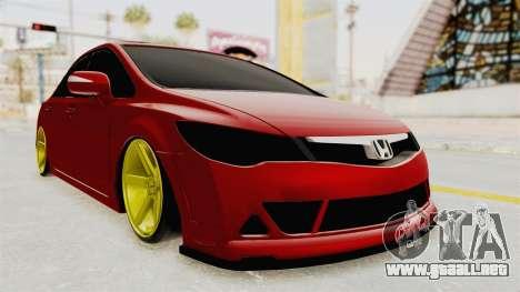 Honda Civic FD6 para la visión correcta GTA San Andreas