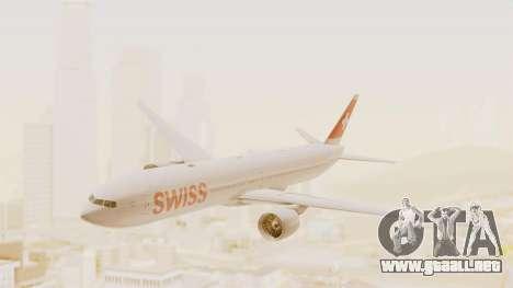 Boeing 777-300ER Swiss International Air Lines para GTA San Andreas vista posterior izquierda
