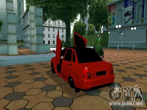 Lada Priora Lambo para GTA San Andreas vista hacia atrás