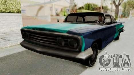 Beater 1962 Voodoo para GTA San Andreas vista posterior izquierda