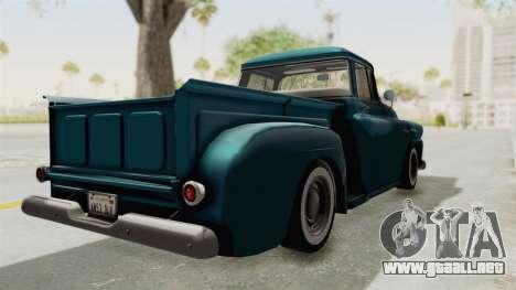 Chevrolet Apache 1958 para GTA San Andreas vista posterior izquierda