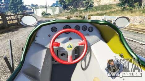 GTA 5 Fiat Mefistofele v1.2 [black tires] vista lateral trasera derecha