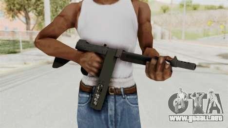 GTA 5 Gusenberg Sweeper Custom para GTA San Andreas tercera pantalla
