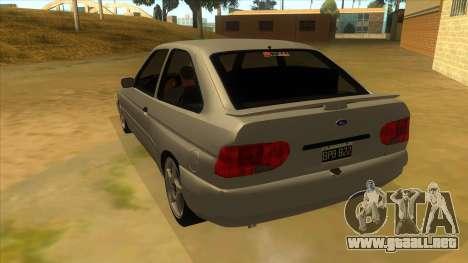 Ford Escort V2 para GTA San Andreas vista posterior izquierda