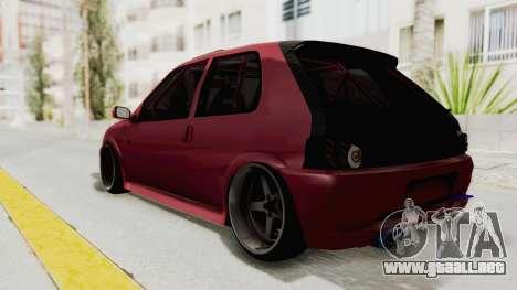 Peugeot 106 V2 RWD Greek Style para GTA San Andreas vista posterior izquierda