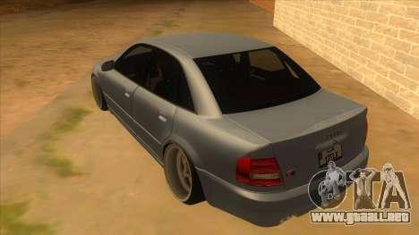 Audi S4 para GTA San Andreas vista posterior izquierda