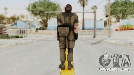 MGSV The Phantom Pain Venom Snake Olive Drab para GTA San Andreas tercera pantalla