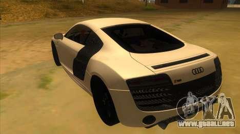 Audi R8 5.2 V10 Plus para GTA San Andreas vista posterior izquierda
