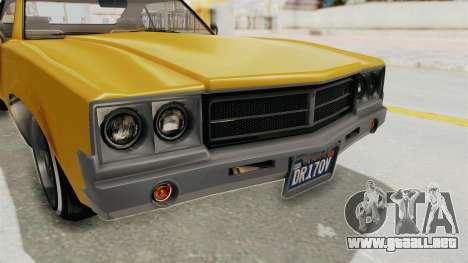 GTA 5 Declasse Sabre GT2 A IVF para la vista superior GTA San Andreas