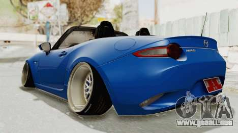 Mazda MX-5 Slammed para GTA San Andreas vista posterior izquierda