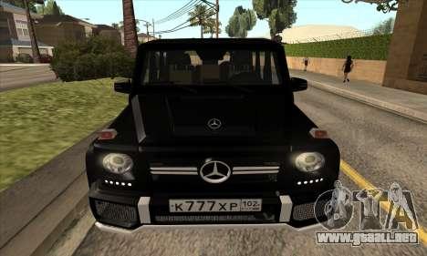 Mercedes G63 Biturbo para vista lateral GTA San Andreas