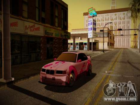 BMW M3 E36 Pinkie Pie para vista lateral GTA San Andreas
