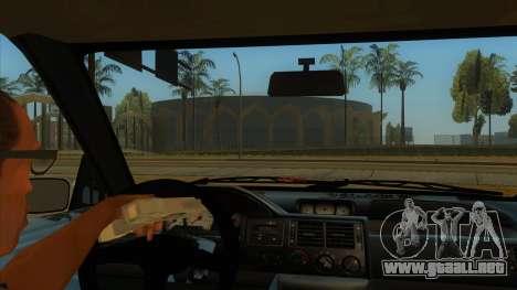 Ford Escort V2 para visión interna GTA San Andreas