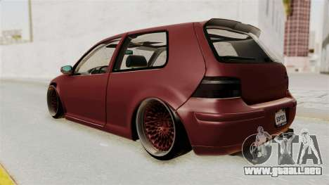 Volkswagen Golf Mk4 V5 Edited para GTA San Andreas left