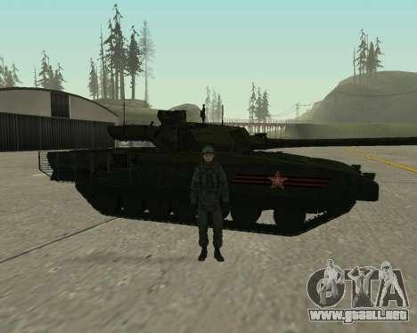 T-14 Armata para vista inferior GTA San Andreas