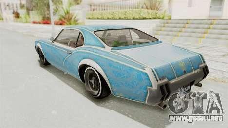 GTA 5 Declasse Sabre GT2 para las ruedas de GTA San Andreas