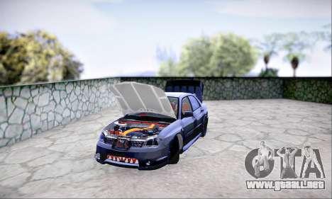 Subaru Impreza WRX STI Dark Knight para GTA San Andreas vista hacia atrás