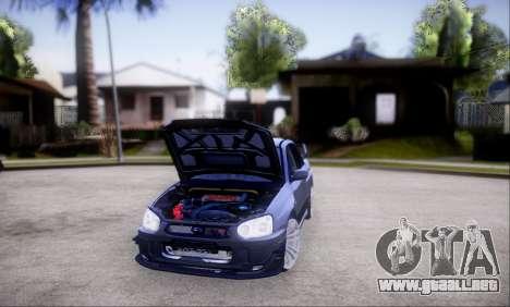 Subaru impreza WRX STi LP400 v2 para la vista superior GTA San Andreas