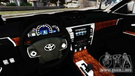Toyota Camry Tuning V2 para GTA 4 visión correcta