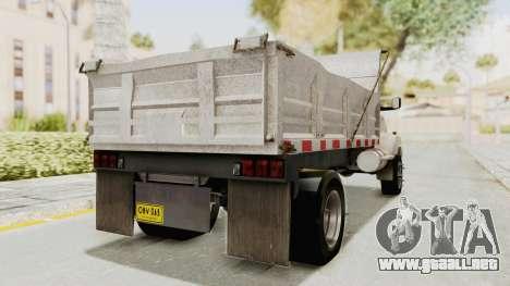 Chevrolet Kodiak Dumper Truck para GTA San Andreas vista posterior izquierda