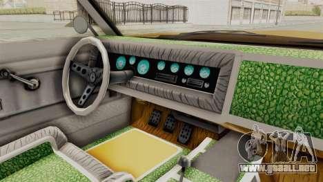 GTA 5 Declasse Sabre GT2 A IVF para visión interna GTA San Andreas